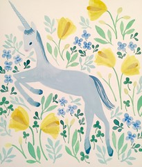 Unicorn (mhasegawa165) Tags: flowers illustration botanical watercolour unicorn