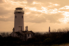 Portland Bill Observatory and Lighthouse (diminji (Chris)) Tags: lighthouse southwest sepia outdoors outdoor observatory dorset hdr westcountry portlandbill portlandobservatory hdrtoning