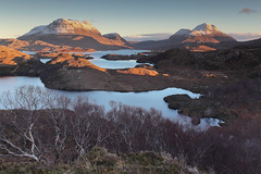 Sunset, Inverpolly (Douglas Griffin) Tags: scotland westerross culmor culbeag canon1740f4l inverpolly lochsionascaig canoneos5dmarkii lochbuinemoire lee09ndhardgrad