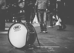 Chinchinero. (Gonza.M) Tags: chile street city urban white black drum instrument chinchinero