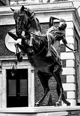 Prancing Horse (Nemodus photos) Tags: bw statue fz1000