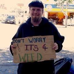 stoner (vhines200) Tags: sanfrancisco homeless fishermanswharf panhandler 2016