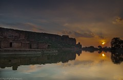 Sunset at Boothnath Temple (magicallights) Tags: sunset india lake heritage caves karnataka carvings badami southindia incredibleindia badamicaves agathsya