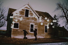 (emmakatka) Tags: trees winter shadow sky woman house selfportrait snow abandoned window field silhouette forest dark spring alone bokeh decay dream haunted creepy abandonedhouse dreamy lonely derelict abandonment emmakatka