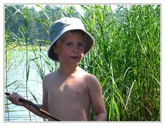Fishing boy (Brje Trttne) Tags: sweden vnern lakevnern
