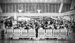 Can't Wait Any Longer - Hangzhou, China (, ) (dlau Photography) Tags: life china trip travel vacation people white black train ngc sightseeing lifestyle style any terminal tourist cant wait hangzhou local   staring visitor longer  schedule