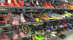 Rack of Shoes (TedParsnips) Tags: shoes highheels footwear secondhand womensshoes shoerack thriftstores