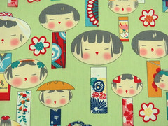 2667C -- Kawaii Kokeshi Doll Fabric in Mint Green, Japanese Doll Fabric (ikoplus) Tags: green bag japanese for doll sale mint fabric cotton commercial kawaii quilting lovely supplies pure kokeshi 2667c ikoplusfabric