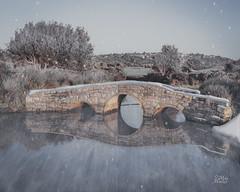 Winter Crossing (Mike Hankey.) Tags: sunrise landscape published manipulation clear hightide longreef