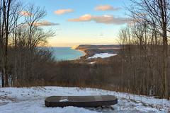 Lake Michigan ... cloud 'paintings' (Ken Scott) Tags: winter sunset usa snow march michigan dune lakemichigan greatlakes trail vista freshwater voted leelanau 2016 45thparallel empirebluff fhdr southbarlake sbdnl sleepingbeardunenationallakeshore mostbeautifulplaceinamerica