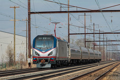 AMTK Siemens ACS-64 #664 @ Levittown, PA (Darryl Rule's Photography) Tags: sun train march spring trains signals amtrak passenger septa levittown passengertrain northeastcorridor 664 652 tullytown testtrain testextra