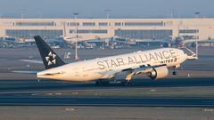 N77022_20160313_42354_M (Black Labrador13) Tags: plane star aircraft united civil boeing airlines 777 avion airliners bru alliance vliegtuig ebbr b777 777200 777224 n77022