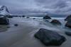 Myrland Lofoten (Peter Edwards Photography) Tags: sea snow storm mountains water clouds rocks waves snowstorm aurora granite blizzard myrland sonya7rii lofotenislands2016sonya7rii