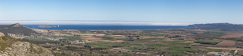 View from Castello: East-South, Ter Valley, L'Estartit to Playa de Pals
