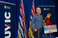 Dr. Marc Klimstra, talks about funding to his Rehabilitation and performance neuromechanics laboratory at BCKDF funding announcement at the BC Legislature, April 4, 2016 (uvic) Tags: castle engineering uvic gupta civilengineering 2016 2015 universityofvictoria bcgovernment suzanneahearne bckdf klimstra