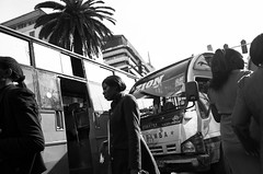 Onward to Zion. (Matt Wicks / GreatDistances) Tags: 2015 africa eastafrica kenya nairobi nairobicbd nairobicentralbusinessdistrict pentax ricoh ricohgr ricohgrv autobus bus candid horizontal publictransportation streetphoto streetphotography transportation walking zionword words