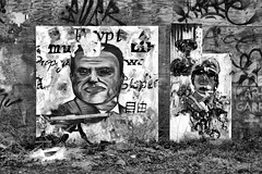 street art (edwin van buuringen) Tags: bw wall painting hdr dynamicphotohdr sonyslt77v