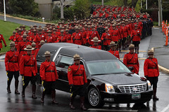 A River of Red Serge (professional recreationalist) Tags: red horse car sarah march crash walk funeral becket killed rcmp procession brucedean professionalrecreationalist crowds speeding hearse victoriabc mourn serge cst regiment colwood riderless regimental redserge sarahbecket