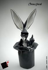 circus freak (-sebl-) Tags: rabbit hat easter origami circus freak sebl