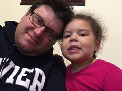 IMG_7728 (jcravenc) Tags: lunch january trampoline snapshots rhian iphone 2016 daddydaughter winstoncupmuseum jcravenc january2016