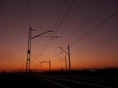 evening (Darek Drapala) Tags: railroad sunset sky sun evening industrial poland polska rail railway panasonic skyskape panasonicg5