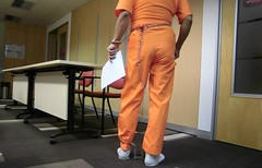 Court Hearing (asiancuffs) Tags: shackles handcuffs pri inmate shackled handcuffed