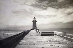 All along the water (sole) Tags: ocean travel sea summer blackandwhite bw lighthouse france monochrome beacon normandy vuurtoren bnw travelphotography shadowlight fecamp sole carmengonzalez takemetothesea