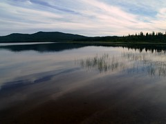 LAC ESCALIER, QUEBEC, CANADA (lkurnarsky) Tags: world sunset wild vacation lake canada beach water reflections sand picnic quebec montreal lakes visit remote boreal visittheworld parcnationaldumonttremblant scenicsnotjustlandscapes qubecsnationalparks