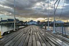 Natales Dock (kikerencoret) Tags: patagonia clouds landscapes muelle dock cloudy