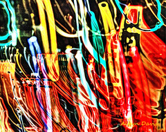 wild abstraction (albyn.davis) Tags: nyc newyorkcity red orange abstract colors yellow night lights colorful abstraction