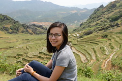 Jade (Simon Caunt) Tags: jade asiantrails vietnam trekkinginsapa himalayanfoothills altitude uplands hills mountains mademoiselle dark hair beautiful bad girl outdoor portrait model rice fields terracing terraced terraces terrace portraiture vista blue jeans pose poseur my best side chillin indochina young miss scene dinh asia far east orient oriental farm farming farmland agriculture agriicultural guide kuoni lovely helpful thoughtful strike thuna134 spectacles specs spectacular glasses