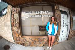 Guns and Knives and Kate (Thomas Hawk) Tags: usa america unitedstates unitedstatesofamerica idaho guns knives arco fav10 gunstore techondeck katewesterhout techondeck2015