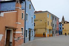 Burano : les couleurs pastels. (http://visiteursdumonde.com) Tags: venice venise venezia burano