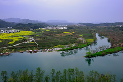 , (Vincent_Ting) Tags: china sunset sky reflection tree architecture clouds sunrise dawn shadows smoke  fishingboat   huangshan wuyuan anhui traffictrails       jiangxiprovince    terracedfield     rapeseedflowers                  fogscene countrysidescenery    vincentting traditionvillage          traditionkitchen
