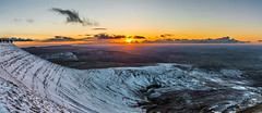 Corn Du Sunset (karlmccarthy1969) Tags: sunset sun mountain snow mountains cold beautiful high nikon awesome wide breconbeacons brecon panarama
