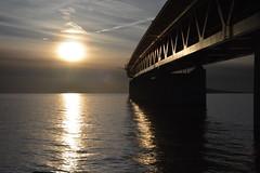 DSC_5358 (kalubro) Tags: sunset sky cloud water denmark shadows himmel bro vatten brigde solnedgng skugga moln resundsbron swe