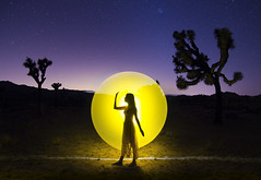 desert aura (areacode) Tags: california light woman girl silhouette painting nationalpark dress dusk longhair joshuatree graceful lacedress nightphotpgraphy