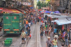 Local Market, Hong Kong (cattan2011) Tags: travel people landscape hongkong market streetphotography streetphoto local tramtrack traveltuesday