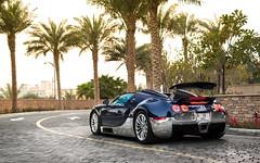 Carbon & Chrome. (Alex Penfold) Tags: blue alex car sport dubai grand super chrome bugatti supercar supercars veyron penfold 2016