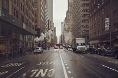 New York Trip 6 (preynolds) Tags: road street city nyc newyork america raw skyscrapers traffic manhattan streetphotography coke steam midtown cocacolatruck mark2 tamron2470mm canon5dmarkii