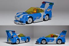 Classic Space Porsche (damoncorso) Tags: blue classic toy toys lego space porsche legos spaceship moc neoclassicspace