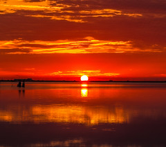 Sunrise (Amanclos) Tags: morning sunset red orange sun france color reflection water colors silhouette sunrise canon rouge gold golden eau time couleurs or reflet nuages paysage aude couleur goldenhour matin tang waterscape matine dor sunsettime canonef2410514lisusm canoneos5dmarkiii