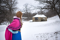 Anna at the Falls -8 (YGKphoto) Tags: park winter anna snow cold minnesota frozen costume cosplay outdoor minneapolis disney minnehaha