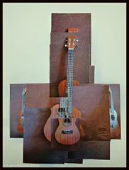 If David Hockney played the ukulele (larry_shone) Tags: music abstract ukulele joiner tanglewood