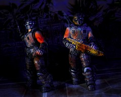 Search and Destroy (BrickSev) Tags: toy soldier toys actionfigure photography war action space military indoor actionfigures figure scifi soldiers sciencefiction collectible gears figures cog diorama collectibles tabletop toyphotography gearsofwar