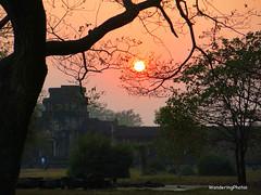 Captured Sunset - Angkor Wat Siem Reap Cambodia (WanderingPJB) Tags: cambodia siemreap angkorwat temple sunset sun trees trap orange img capture colourfulworld tmt smileonsaturday catchthesun cmwdorange