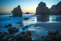 El Matador State Beach -- blue hour #2 (andy_8357) Tags: ocean california ca longexposure blue beach beautiful landscapes sand long exposure waves quiet seascapes state pacific patterns sony breath peaceful el calm malibu le hour serene alpha taking soothing matador nex mirrorless a6000 sel1650 ilce6000 ilcenex