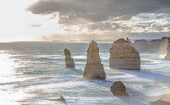 12 Apostles (Hooti3) Tags: longexposure travel sunset shadow beautiful canon landscape golden melbourne victoria coastal greatoceanroad iconic 12apostles