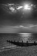 Milford-On-Sea (Charliebubbles) Tags: blackandwhite bw seascape canon eos mono blackwhite nok milfordonsea 60d canoneos60d 190416 nikcollection photoshopcc