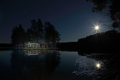 Just imagine ... (gallserud) Tags: lake stars island sweden schweden fullmoon midnight sverige
